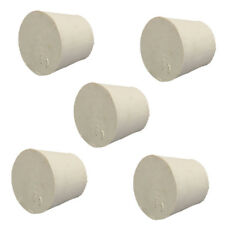 2 Sizes White Tapered Rubber Plugs Stopper Bung - Flask- 10PCS- Lab Supplies
