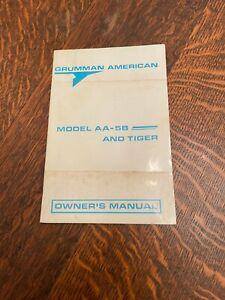 Vintage Grumman American Model AA-5B & Tiger Airplane Owner's Manual