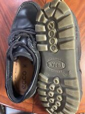 ECCO 'Track II' Black Leather Goretex Hiking Shoes Men's 42. Lightly Used.