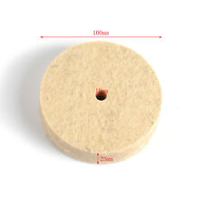 100MMx25MM Polishing Buffing Grinding Wheel Wool Felt Polisher Disc 10mm Hole