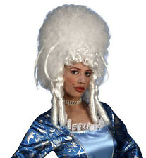 Ladies Madam Bovary White Wig Tall Beehive Panto Dame Vamp Burlesque Fancy Dress
