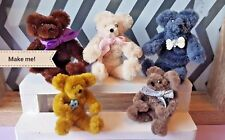 TEDDY BEAR KIT Make 5 dolls house 1:12th scale pipe cleaner bears miniature toys