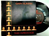 "GARY NUMAN ""THIS WRECKAGE""/""PHOTOGRAPH 7"" Single. Beggars Banquet. 1980 NM/NM"