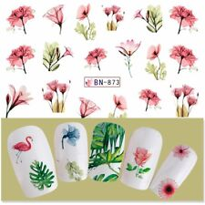 Nail Art Water Decals Transfers Stickers Water Effect Tulip Flowers Floral BN873
