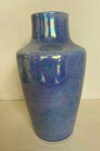 Ruskin pottery mottled lavender lustre vase impressed marks
