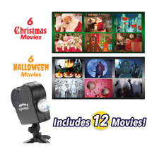 Halloween Holographic Projector Spooky Nights Halloween Party Lights 12 Movies W