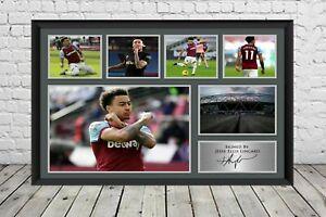 Jesse Lingard Signed Photo West Ham United Poster Football Memorabilia
