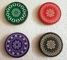 India Tournament Carrom Carom Board Coins Plastic Striker Flicker Counter -2 PCS