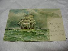 Lot08u 1903 SAILING SHIP Used Raphael Tuck MARINE POSTCARD Series 978