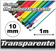 GT10-1# gaine thermo rétractable Transparente 10mm 1m ratio 2/1