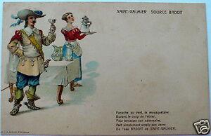 2 CARTES POSTALES PUBLICITAIRES POUR SAINT-GALMIER SOURCE BADOIT.ANNÉES 1920.