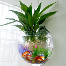 Home Wall Mounted Bowl Hanging Decor Aquarium Fish Tank Plant Decoration Pot