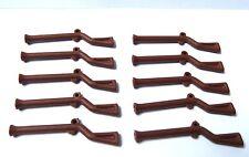 Lego 10 Marrón mosquete armas pistola para Minifigura Figura Soldado Ejército Imperial Castillo