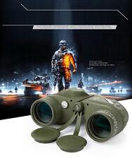 Waterproof 10x50 Binoculars Telescope HD Rangefinder Compass Reticle Night Visio