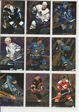 1996-97 Fleer Metal Universe Lot of 39 Cards Lidstrom, Barrasso, Clark, Iginla