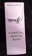 "Kohl's 16-18"" Sterling Silver Small KEY Door Pendant Charm Necklace NEW! GIFT!!"