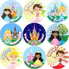 144 Princess Praise Words 30 mm Reward Stickers for School Teachers, Parents