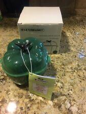 LE CREUSET Jade Green Petite Bell Pepper Casserole Mini Cocotte 13 oz NEW IN BOX