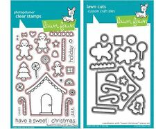 Lawn Fawn Photopolymer Clear Stamp & Die Combo ~ SWEET CHRISTMAS ~ LF426, LF779