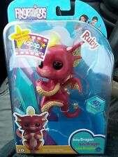 Fingerlings Baby Dragon Ruby WowWee Red and Gold Authentic Fingerling Free Ship