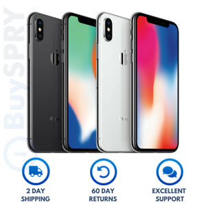 Apple iPhone X Unlocked Smartphone 📱 64GB 256GB Verizon T-Mobile AT&T GSM CDMA
