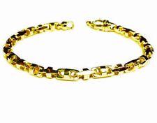 "14k Solid Yellow Gold Anchor Mariner Bullet chain Bracelet 5 MM 24 grams  8"""