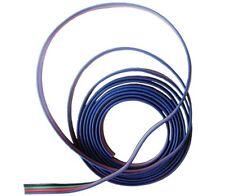 Cavo RGB 4 pin per connessione strisce led  RGB 3528-5050 mt.1-2-3-4-5-10