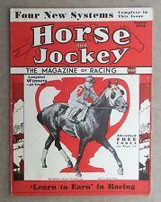 1932 ORIGINAL VINTAGE HORSE & JOCKEY MAGAZINE HORSE RACING EQUIPOSE COVER