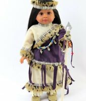 """Doll Clothes 18"""" Dress Native American Headpiece Staff Fit American Girl Doll"""