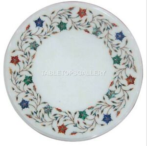 1' Marble Coffee Table Top Multi Mosaic Floral Inlay Living Room Home Decor W195