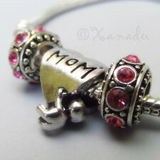 Mom And Baby European Charm And Birthstone Beads For European Charm Bracelets