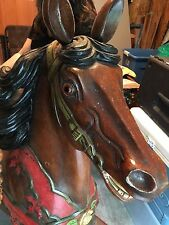 VINTAGE CAROUSEL HORSE Hand Painted FROM MAGIC SPRINGS AMUSEMENT PARK