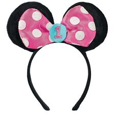 MINNIE MOUSE Fun to Be One HEADBAND ~ 1st Birthday Party Supplies Favor Pink