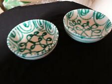 2Gmundner Keramik  Schalen  rund Dm17 + 15  cm  grün geflammt  gebraucht