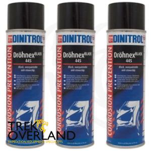 3 x Dinitrol Dröhnex 445 Stonechip & Corrosion Protection 500ml Aerosol DA1994