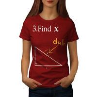 Wellcoda Find X Womens T-shirt, Funny Math Casual Design Printed Tee