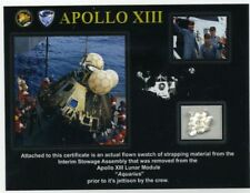 Apollo 13 - Genuine Swatch of Strapping From the Lunar Module Flown to the Moon