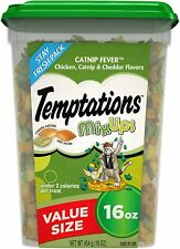 TEMPTATIONS MixUps Crunchy and Soft Cat Treats, Chicken, Catnip, Cheddar 16 oz