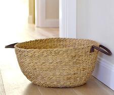 Claude Large Storage Basket - Water Hyacinth Basket with Handles - Throw Basket