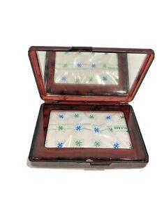 Grumman Travel Tissue Box Mirror Vintage Hard Case Brown