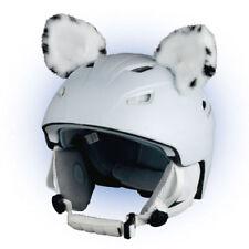 Stick-on ears for skiing helmet - Snow Leopard - ski bike Decoration Cover kids