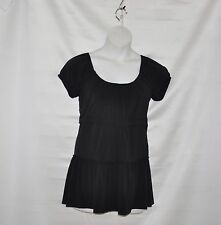 M by Marc Bouwer Matte Jersey Baby Doll Tunic Size XS Black