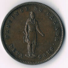 Province of Canada - Quebec Bank One-penny Token 1852; PC- 4 - High Grade