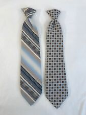 Vintage The Quickee Clip On Mens Neck Ties Lot of 2