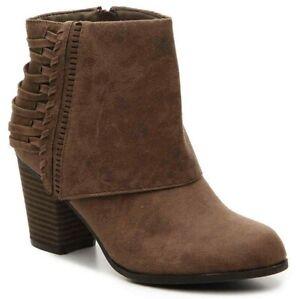 Fergalicious by Fergie Women's Taranto Chunky Block Heel Zip Ankle Boots/Booties