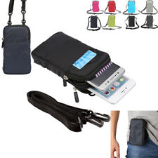 Universal Belt Loop Hook Phone Case Zipper Shoulder Bag For iPhone Cell Phones