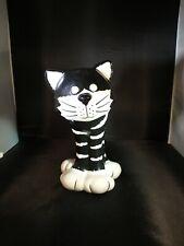 Exclusively For Fib Burton & Burton- Ceramic Black & White Cat Vase