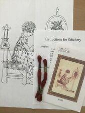 Lakadaisies Folk Art Redwork Transfer Pattern R-202 Hand embroidery & DMC Floss