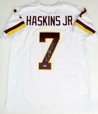 Dwayne Haskins Autographed White Pro Style Jersey - Beckett Auth *7