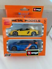 burago 2 Metal Models - Street Cars 1:43